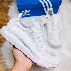 Adidas Swift Run Triple White Shoes